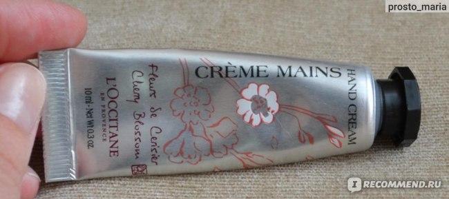 Крем для рук L'occitane Fleurs de Cerisier (Вишневый цвет) фото