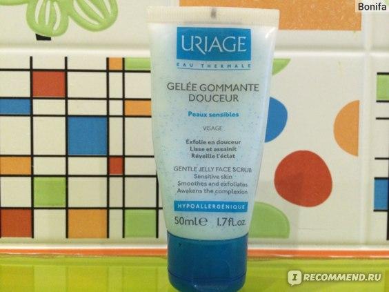 Мягкий скраб Uriage для чувствительной кожи Gelee gommante douceur фото