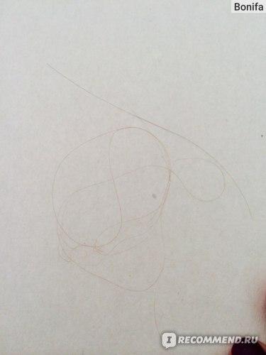 Всего вот столько волосков я снимала с расчески  осле дарсонвализации