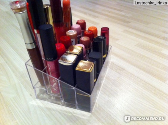 Подставка под помады Aliexpress   Clear 24 Makeup Lipstick Cosmetic Storage Display Stand Holder ON SALE 670148 фото
