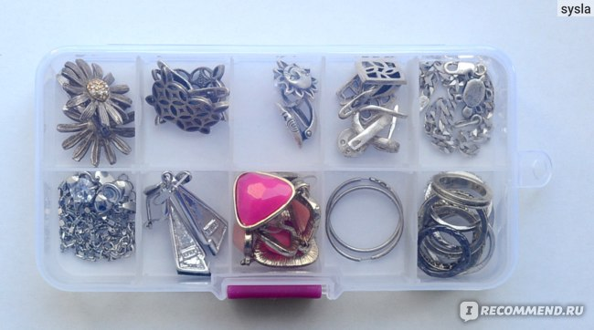 Органайзер Aliexpress 10 slot jewelry rings adjustable tool box case craft organizer фото