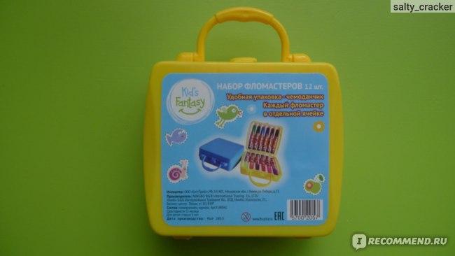 Фломастеры Fix Price Набор фломастеров, 12 шт в чемоданчике фото
