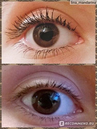 Глаз с тушью и без туши