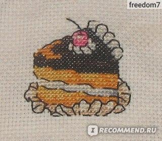 вышивание крестиком пирожное