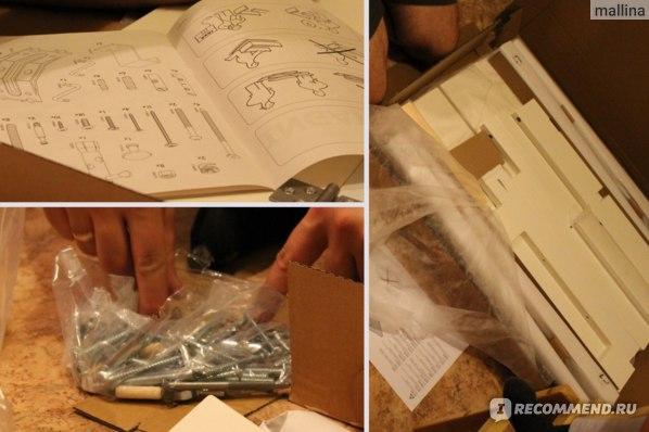 Процесс сборки - посмотрите сколько шурупов идет в комплекте и все разные!