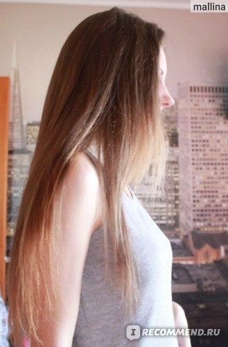Волосы после бальзама и утюжка