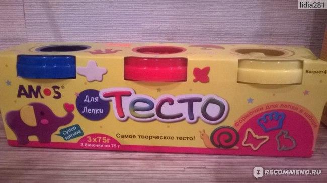 Тесто для лепки Amos  фото