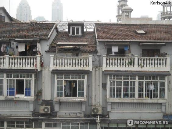 Шанхайские крыши.Вид из хостела.