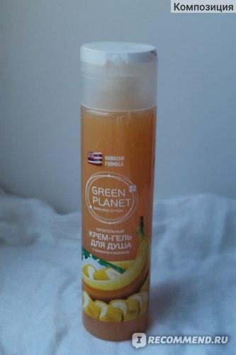 Крем-гель для душа Green planet С бананом и молоком по гавайскому рецепту фото