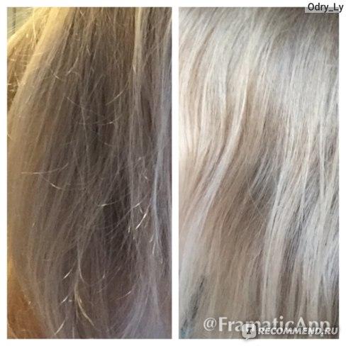 Сравнение цвета волос до и после
