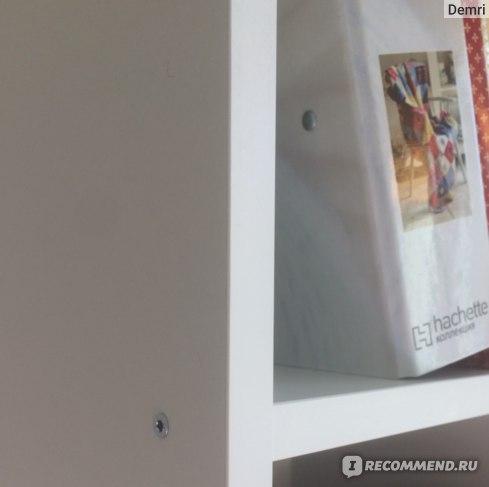 Стеллаж Леруа Мерлен Куб 174*70,5*32 ЛДСП Белый  фото