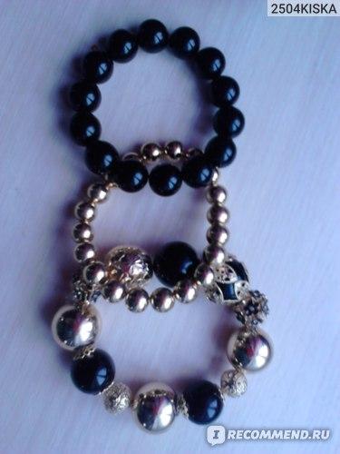 Браслет Aliexpress Fashion Accessories women's Beaded Elastic Bracelet Factory Wholesale фото
