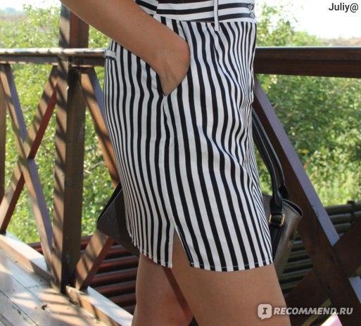 Платье European Station Since 1983 Italy Женское модное полосатое артикул:132572