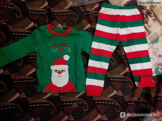 Пижама AliExpress cotton Long sleeves girls boys baby kidschildren clothing sets suits pajama 2 piece 2-7 age sleepwear fashion Father Christmas фото