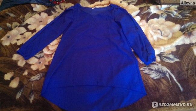 Платье летнее AliExpress Women Summer Casual Dress Novelty Long sleeved Large Size Loose Chiffon Fashion Party Dresses  фото