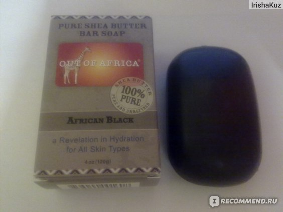 Мыло  Out of Africa  Pure Shea Butter Bar Soap, African Black, черное мыло фото