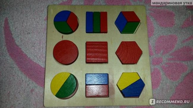 Развивающая игра Aliexpress New Arrival 1PC Wooden Geometry Montessori Kid Baby Early Educational Learning Toy фото