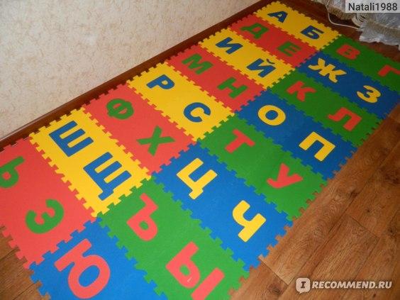 ООО «Тойс Лэнд» Детский коврик-пазл «Русский Алфавит» фото