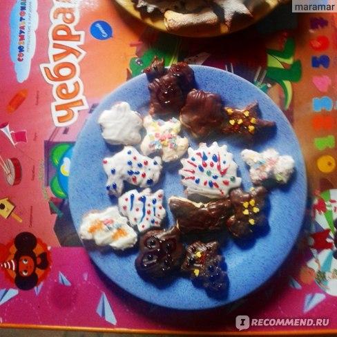 Украшение для выпечки Парфэ Декор Вафельные картинки-раскраски с декором кондитерским (карандашами цветными гелевыми) фото