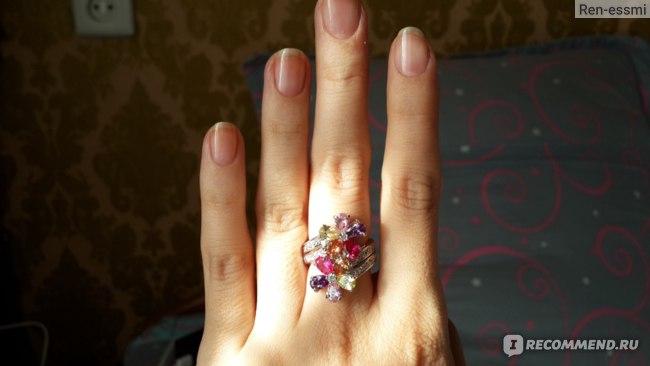 Кольцо Aliexpress Trendy-Pink-Amethyst-Morganite-Peridot-fashion-925-Silver-RING фото