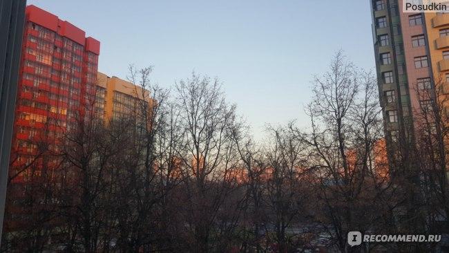 Фото из окна (вечерний закат)