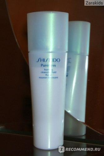 Очищающее средство Shiseido Pureness Foaming Cleasing Fluid фото