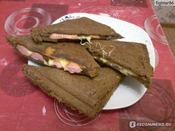 Сэндвичи с говядиной и сыром в мультипекаре - рецепт пошаговый с фото