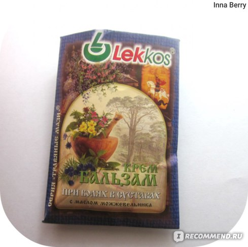 Крем-бальзам Lekkos При боли в суставах с маслом можжевельника фото