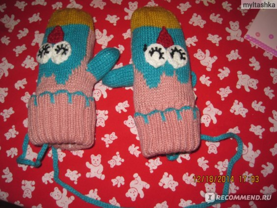 Варежки детские AliExpress Winter Gloves Baby Gloves Warm Gloves Lovely Owl And Robot Style Mittens For Kids  фото