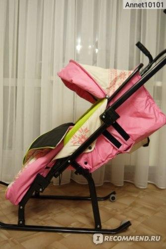 Санки - коляска Скользяшки Герда 4-РЗ фото