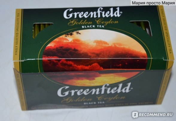 Чай  Гринфилд (Greenfield) Golden Ceylon фото