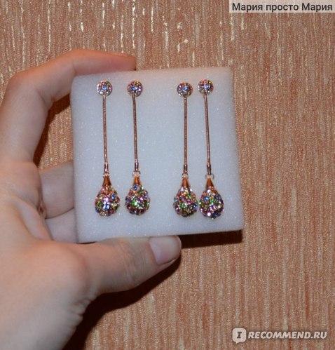 Серьги Neoglory Jewelry Water Drop фото