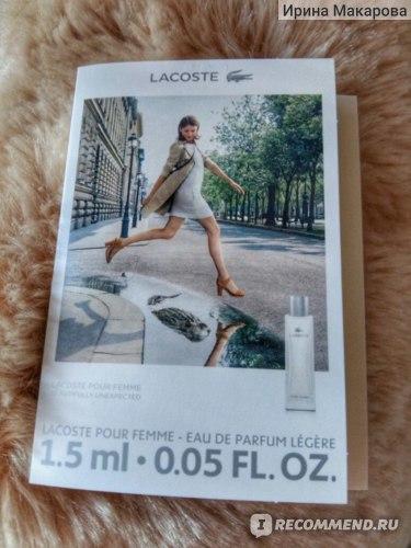 Lacoste POUR FEMME LEGERE фото
