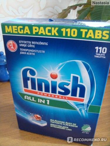 Средство для мытья посуды в посудомоечной машине Finish Poverball all in 1 фото