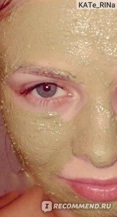 маска на лице, после нанесения