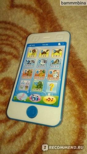 Детский телефон Aliexpress 2014 new Russian language learning machine children's phone toy musical toy educational toys фото
