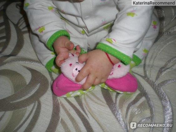 Носки Aliexpress с погремушкой 6pieces = 3 pair/lot 24 designs available size 7-24 months New style Baby Anti-slip Walking Socks Children's baby sock kid gift фото
