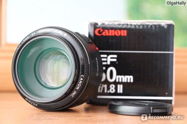 Canon EF 50 mm F1.8 II  фото