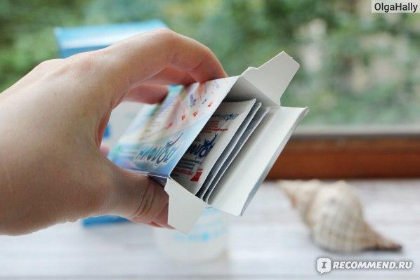 Пакетики с раствором в упаковке