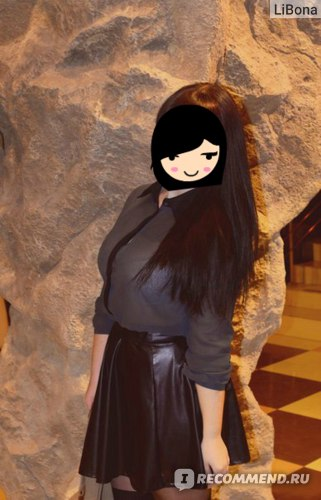 Юбка AliExpress Spring Women's сексуальное Solid Color Высокая талия Малый искусственной кожи Зонт короткая фото