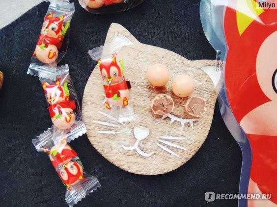 """Конфеты глазированные JOYCO """"Драже орехово-шоколадное Белочка"""" фото"""