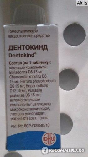 Гомеопатия Натурфарм Дентокинд фото