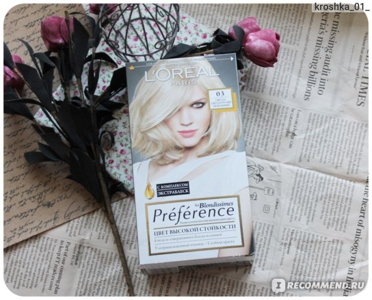 Краска для волос L'Oreal Paris Preference les Blondissimes фото