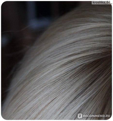 Цвет волос после 3-го мытья головы,без вспышки,макро
