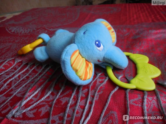 Bright Starts  Развивающая игрушка-подвеска Слонёнок фото