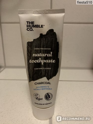 Зубная паста The Humble Co Natural toothpaste. Charcoal фото