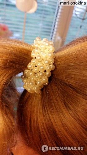 Резинка для волос Aliexpress бусины жемчуга Women Pearls Beads Hair Band Rope Scrunchie Ponytail Holder WH Free Shipping & Wholesale фото