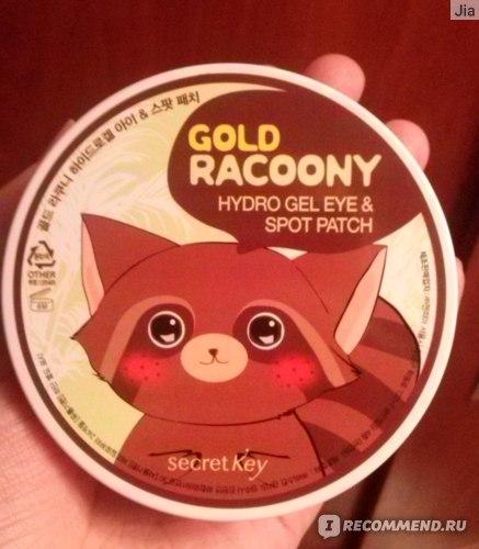 Гидрогелевые патчи для глаз Secret Key Gold Racoony Hydro Gel and Spot Patch фото