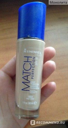 Тональный крем Rimmel Match Perfection Foundation фото