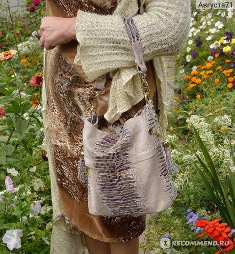 Сумка Aliexpress REALER brand genuine leather crocodile bags for women shoulder messenger bags casual tote bag hobos handbag with tassel фото